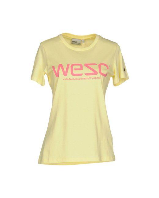 Wesc   Yellow T-shirt   Lyst