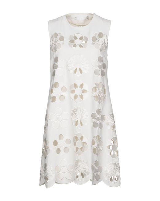 Victoria, Victoria Beckham White Short Dress