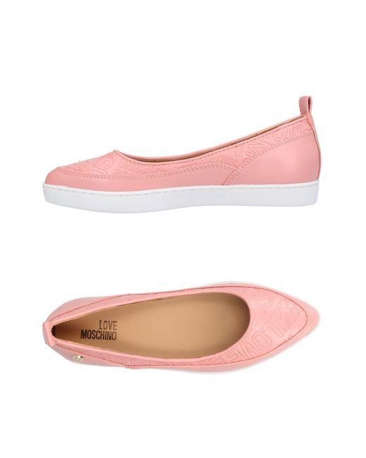 Love Moschino - Pink Ballet Flats - Lyst