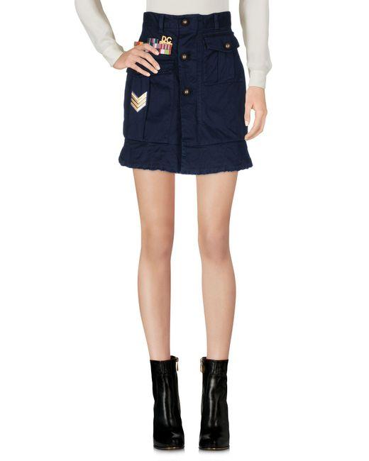 DSquared² - Blue Mini Skirt - Lyst