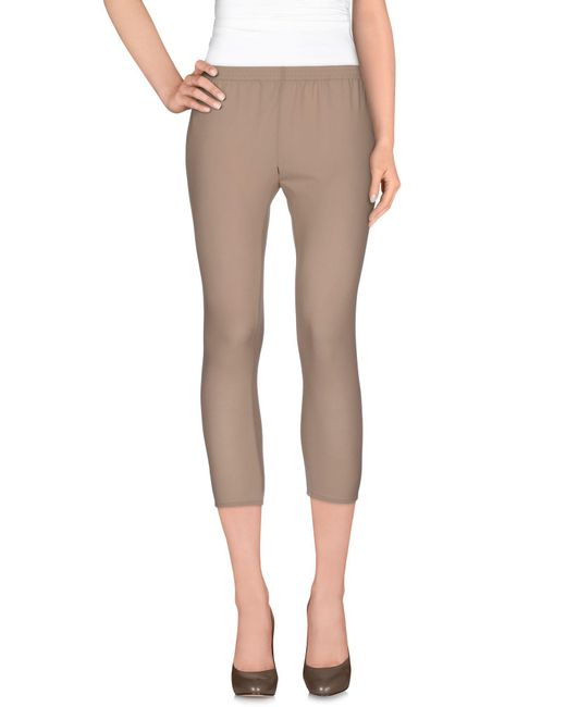 Twin Set - Natural 3/4-length Trousers - Lyst
