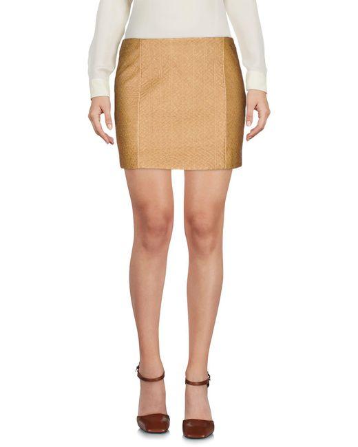 Armani Jeans - Natural Mini Skirt - Lyst