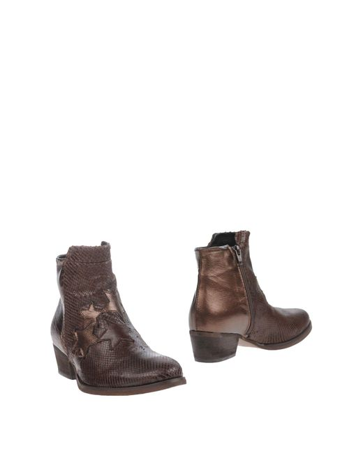 Divine Follie - Brown Ankle Boots - Lyst