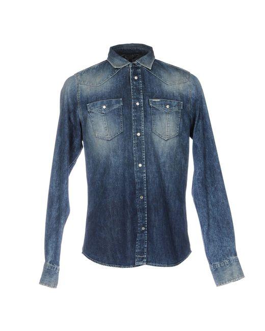 DIESEL | Blue Denim Shirt for Men | Lyst