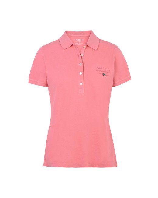 Napapijri - Pink Short Sleeve Polo - Lyst