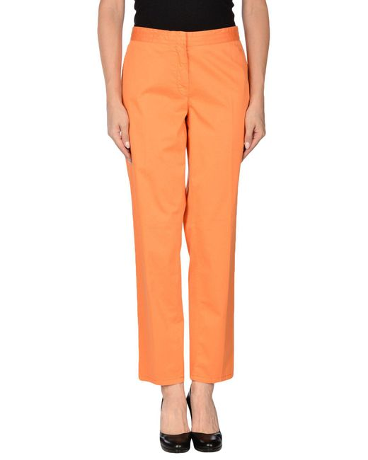 Les Copains - Orange Casual Pants - Lyst