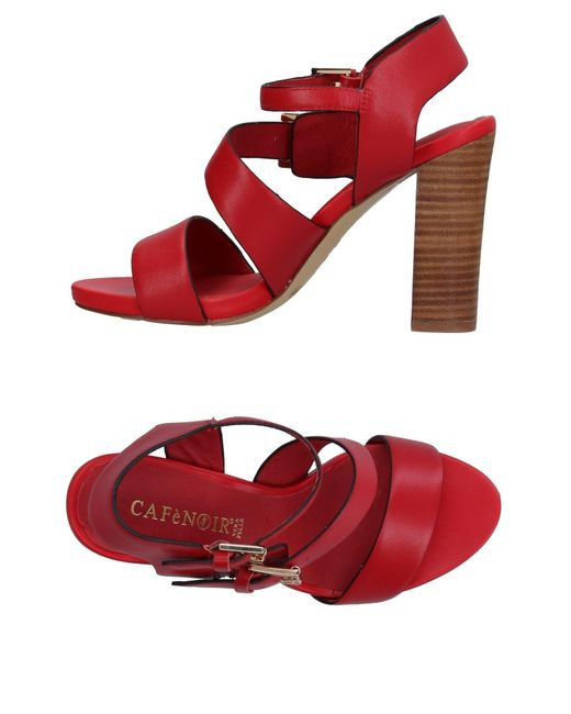 CafeNoir - Red Sandals - Lyst