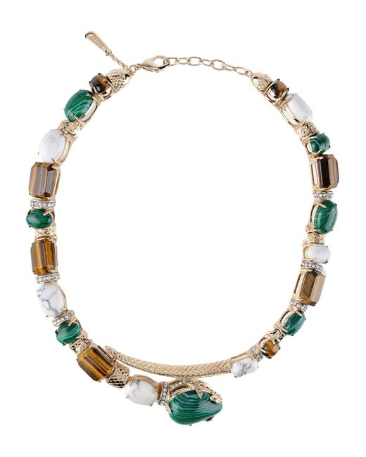 Roberto Cavalli | Green Necklace | Lyst