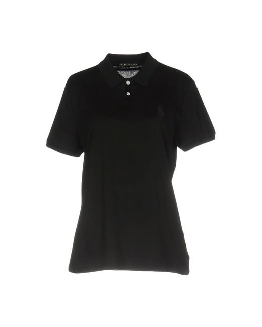 Ralph Lauren Black Label   Black Polo Shirt   Lyst