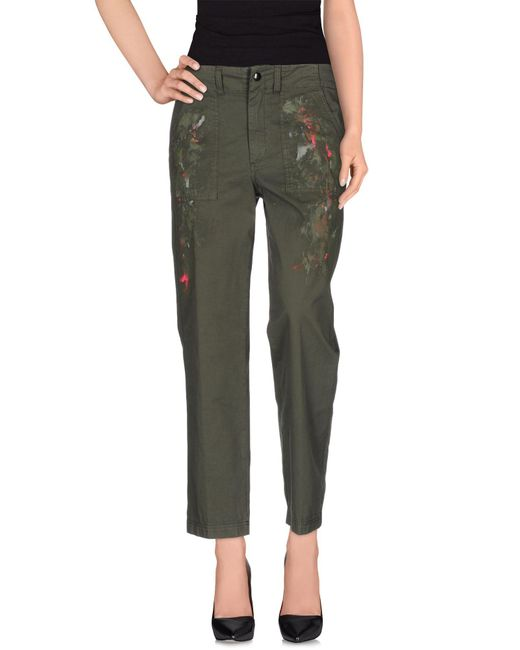 Dondup - Green Casual Pants - Lyst