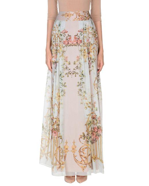 Alberta Ferretti - Multicolor Long Skirt - Lyst