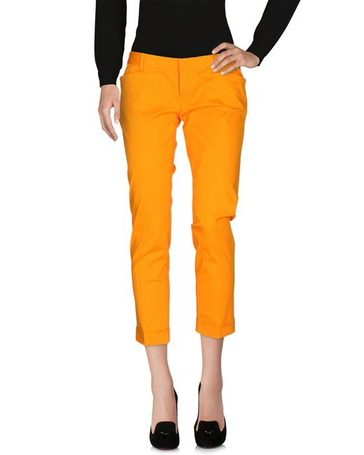 DSquared² - Orange Casual Trouser - Lyst