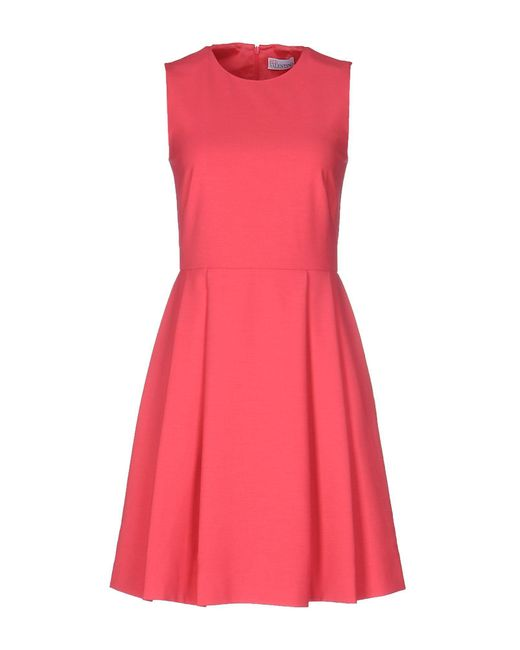 RED Valentino | Pink Short Dress | Lyst