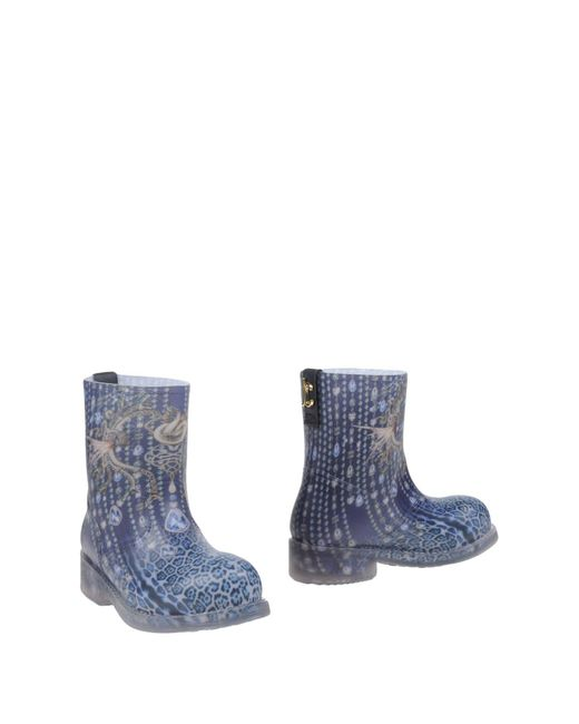 Just Cavalli - Blue Ankle Boots - Lyst