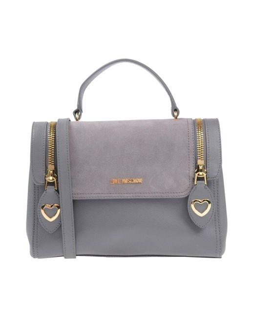 Love Moschino - Gray Handbags - Lyst