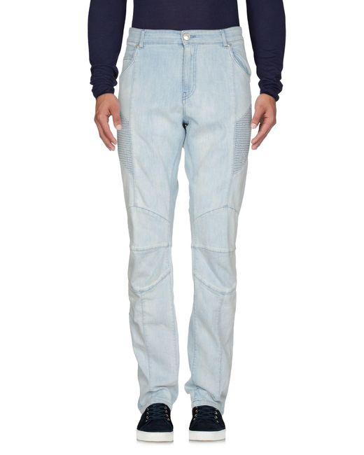 Balmain - Blue Denim Pants for Men - Lyst