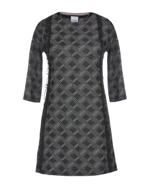 Pf Paola Frani - Black Short Dress - Lyst