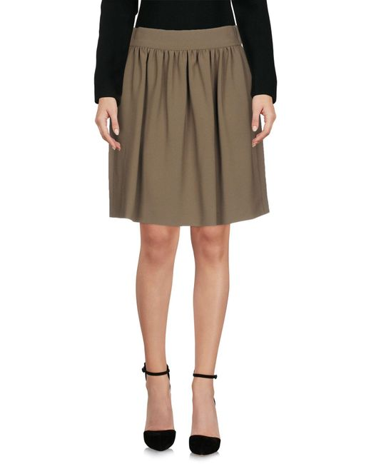 Boutique Moschino - Green Knee Length Skirts - Lyst