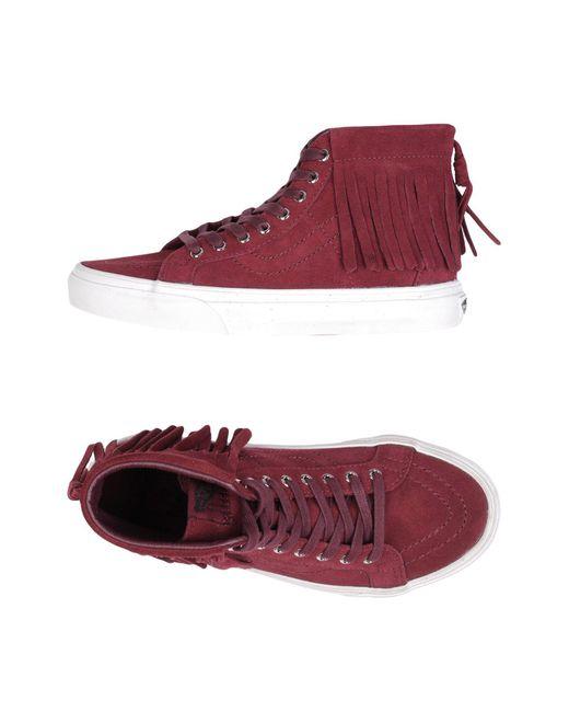 Vans | Purple Sk8-hi Moc Sneaker | Lyst