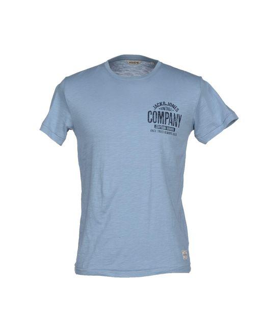 Jack & Jones | Blue T-Shirt for Men | Lyst