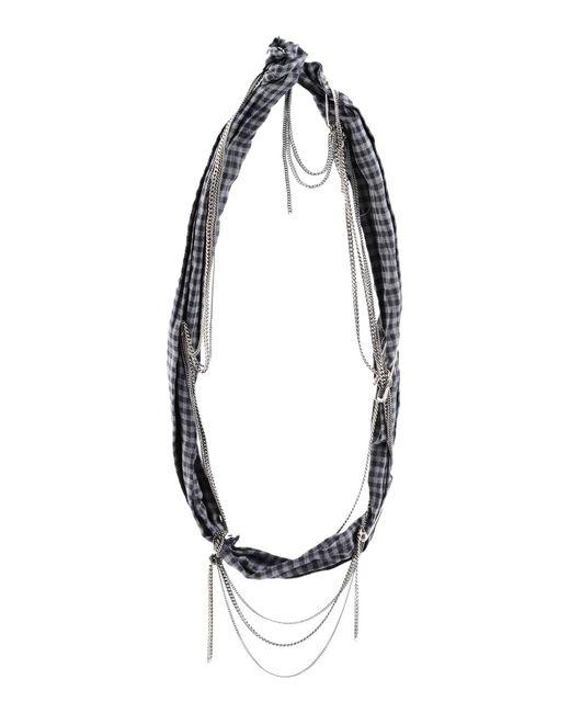 Maison Michel - Gray Necklaces - Lyst