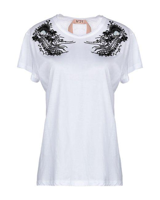 N°21 - White T-shirt - Lyst