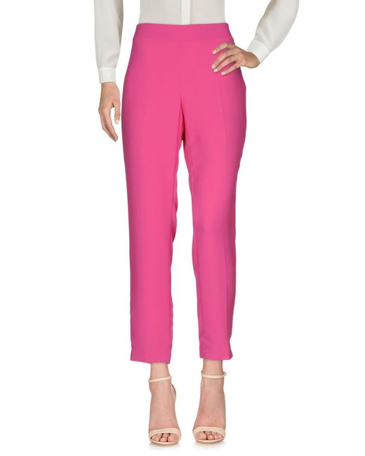 Blue Les Copains - Pink Casual Trouser - Lyst