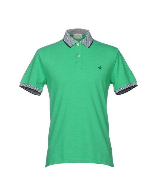 Brooksfield - Green Polo Shirt for Men - Lyst