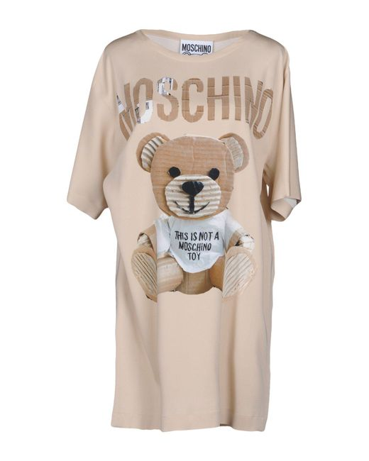 Moschino - Natural Short Dresses - Lyst