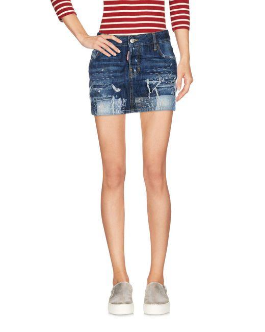 DSquared² Blue Denim Skirt