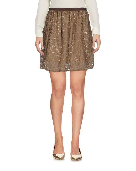 Patrizia Pepe - Natural Mini Skirt - Lyst