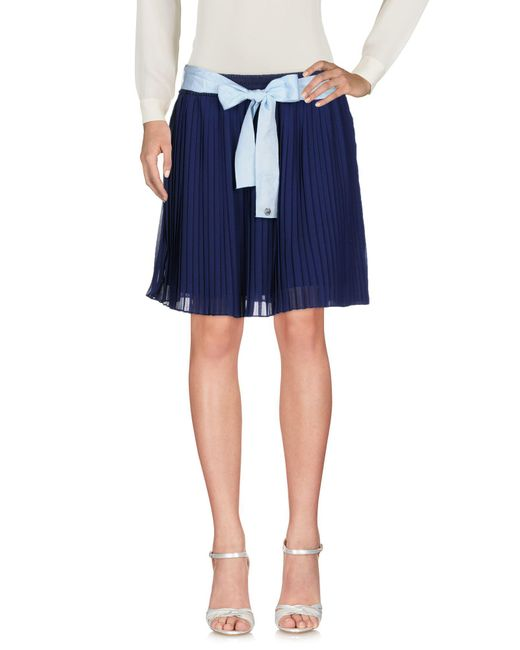 Scee By Twin-set - Blue Mini Skirt - Lyst