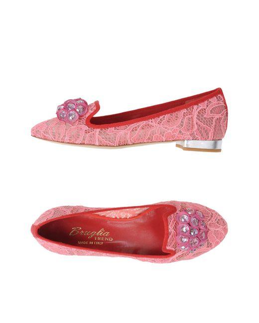 F.lli Bruglia - Pink Ballet Flats - Lyst