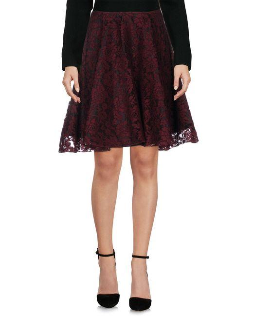 Ainea - Red Knee Length Skirt - Lyst