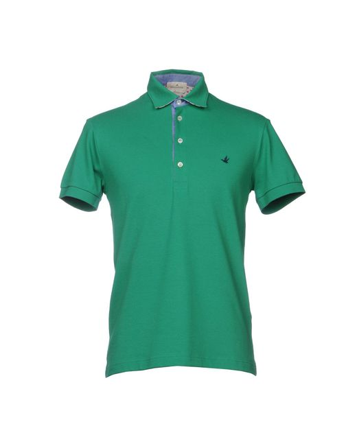 Brooksfield - Green Polo Shirts for Men - Lyst