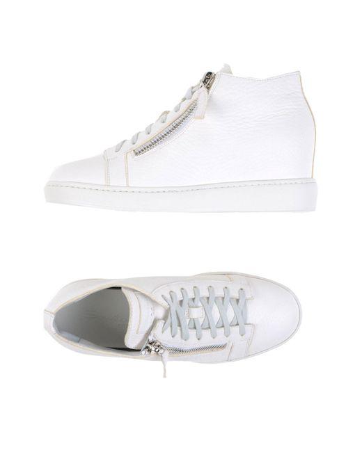 Santoni - White High-tops & Sneakers - Lyst