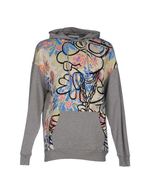Moschino | Gray Sweatshirts | Lyst