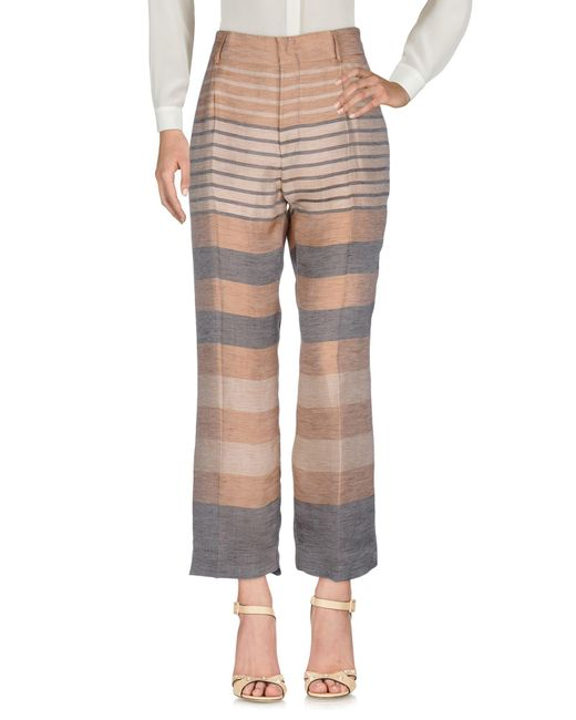 Alberta Ferretti Natural Casual Trouser