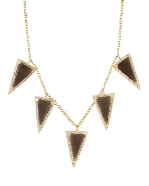 Kevia - Metallic Necklace - Lyst