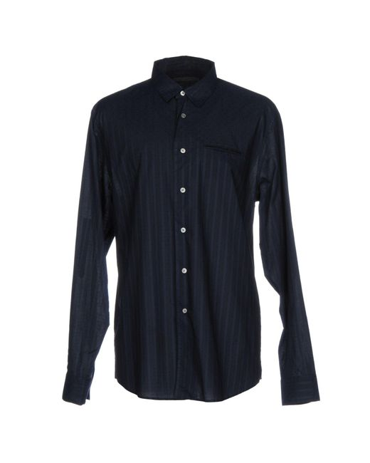 John Varvatos - Blue Shirts for Men - Lyst