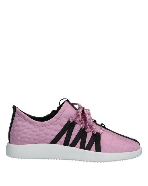 Giuseppe Zanotti - Pink Textured Sneakers - Lyst