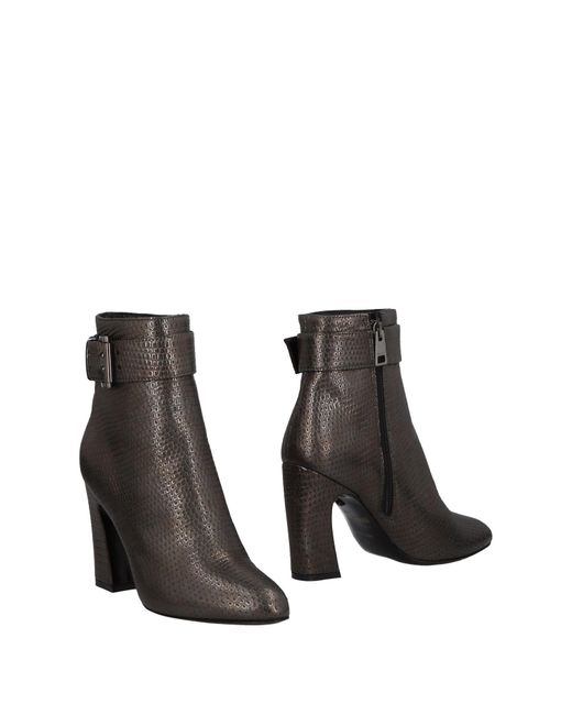 Just Cavalli - Gray Ankle Boots - Lyst
