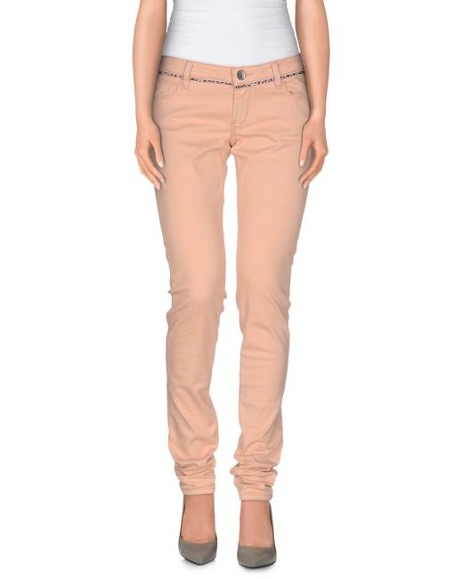 Guess - Pink Casual Pants - Lyst