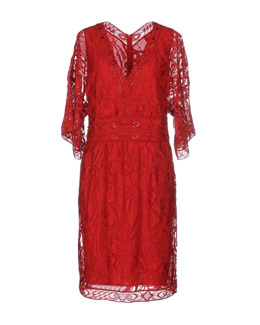 Emilio Pucci - Red Knee-length Dress - Lyst
