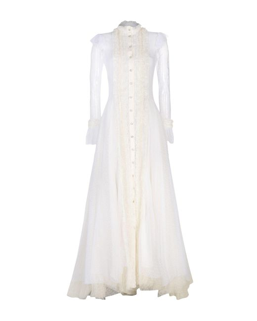 Philosophy Di Lorenzo Serafini - White Long Dress - Lyst