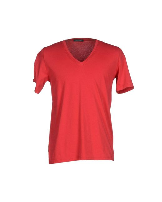 Roberto Collina | Red T-shirt for Men | Lyst