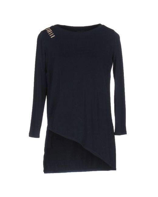 Elisabetta Franchi - Blue T-shirt - Lyst