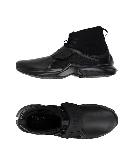 lyst puma hightops amp sneakers in black for men
