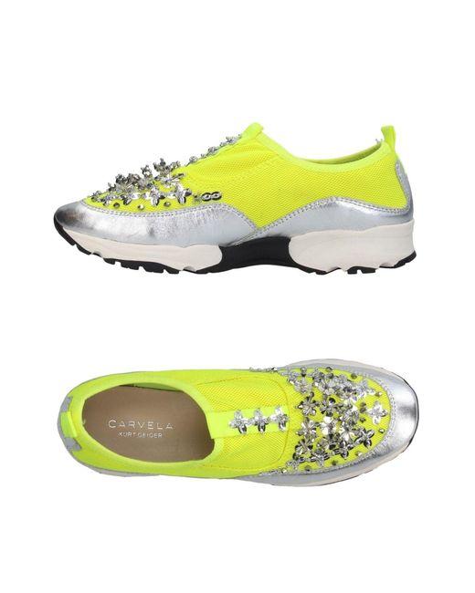 Carvela Kurt Geiger - Yellow Low-tops & Sneakers - Lyst