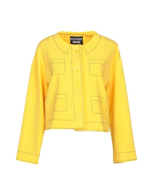 Boutique Moschino - Yellow Blazers - Lyst